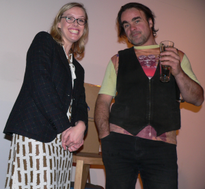 Angela Meyer (LiteraryMinded blog) and Mark Anstey (Lot 19)