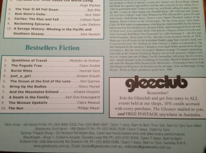 just_a_girl hits bestsellers list at Gleebooks