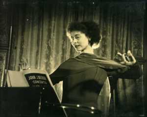 Lucie Rosen and the theremin, Caramoor Centre for Music and the Arts